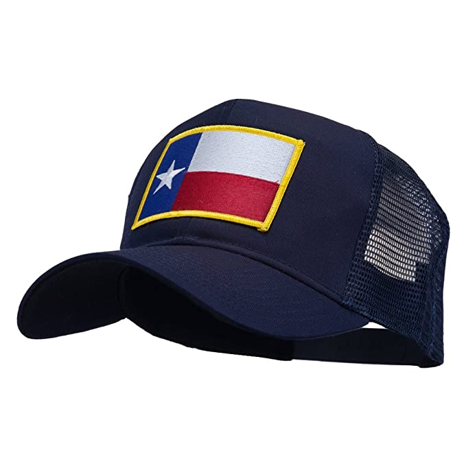 E4hats Texas State Flag Patched Mesh Cap - Navy OSFM at Amazon Men s ... 7b04a052945