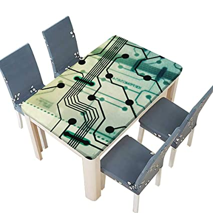 Amazon com: PINAFORE Polyester Tablecloth Transparent Circuit Board