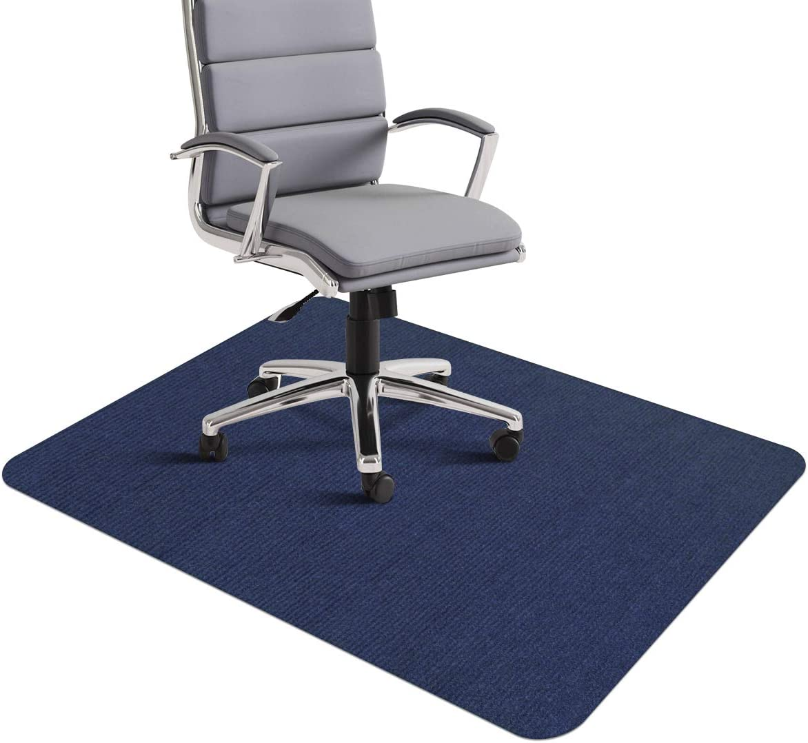 """Office Chair Mat, Office Desk Chair Mat for Hardwood Floors, 1/6"""" Thick 35""""x55"""" Hard Floor Protector Mat, Multi-Purpose Low-Pile Chair Carpet for Home & Office (Dark Blue)"""