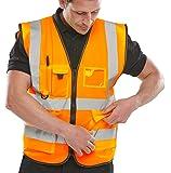 Chaleco de alta visibilidad, Ejecutivo, XL, naranja, 1