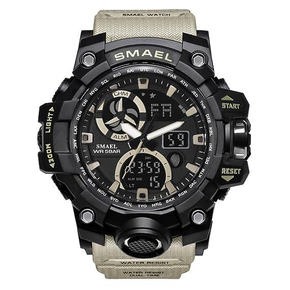 Relojes Militares Digitales para Hombre Relojes Digitales Frescos con Reloj Deportivo Digital de Gran Rostro