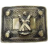 AAR Scottish Kilt Belt Buckle with ST Andrew Badge 4 Dome Mirror Design/Celtic Kilt Belt Buckle Antique