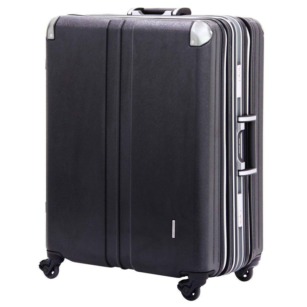 スーツケース ビジネスキャリー 大容量 無料受託手荷物サイズ 158cm 以内 アウトレット 訳あり スーツケース ビジネスキャリー ビジネスバッグ キャリーバッグ キャリーノート M サイズ 5日 6日 7日 中型 ダブル拡張機能搭載 (ブラック)   B06ZZ45NLR