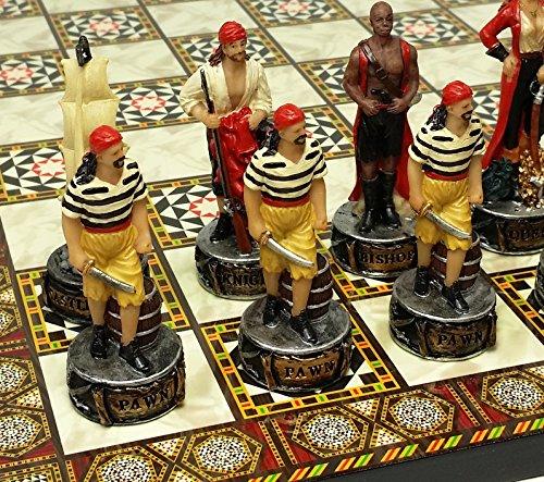 - HPL Pirates vs Royal Navy Pirate Chess Set W/ 14 1/2