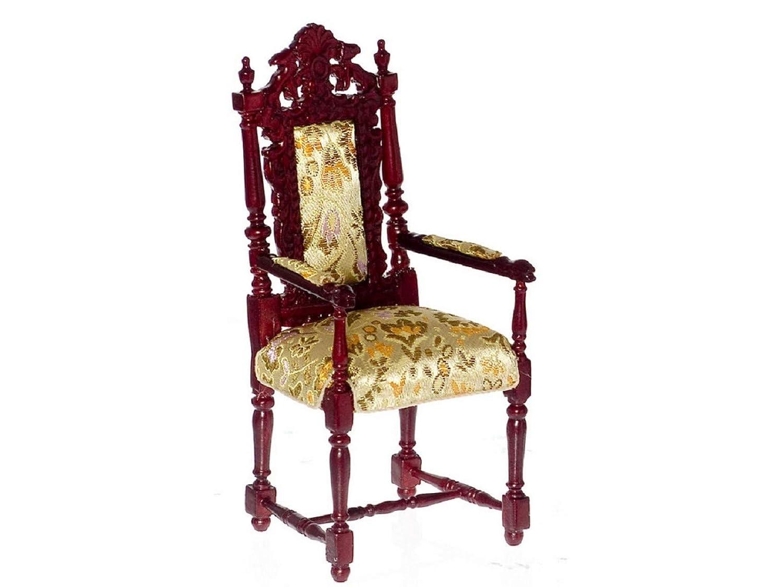 servicio honesto Casa de muñecas en miniatura 1  12Escala Platinum Collection Collection Collection caoba Croix de la Reina Anne sillón   P3472  compras en linea