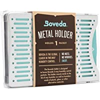 Boveda for Cigars   Brushed Aluminum Boveda Holder for Humidor   for Use with One (1) Size 60 Boveda (Sold Separately)   Includes Magnetic and Velcro Mounting Kits   1-Count