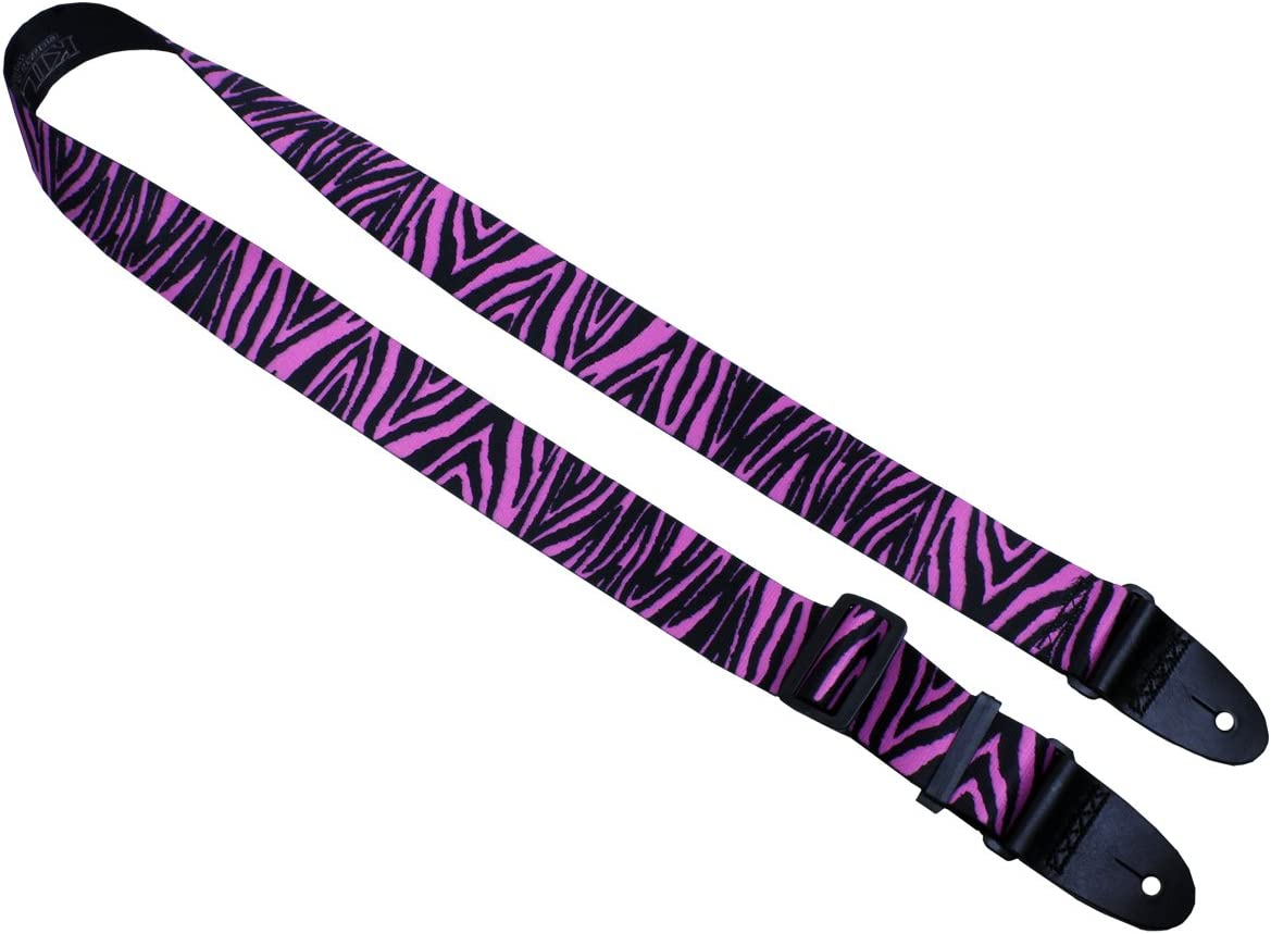 Stylish Straps for Electric and Acoustic Guitars Killer-Q Guitar Strap Made in USA Leopard 2 Inches x 5 Feet