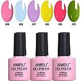 AIMEILI Soak Off UV LED Gel Nail Polish Multicolour/Mix Colour/Combo Colour Set Of 6pcs X 10ml (SET6-24)