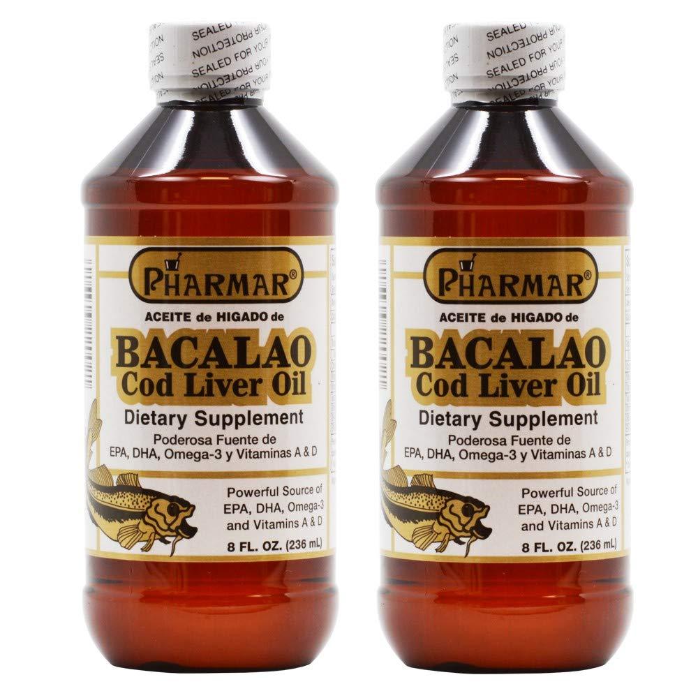 Aceite De Higado De Bacalao 8 Oz. Cod Liver Oil 2-Pack