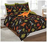 Mk Collection 6pc Twin Comforter Set With Furry Dinosaur Pillow Dinosaur Brown O$range Green Blue Red New