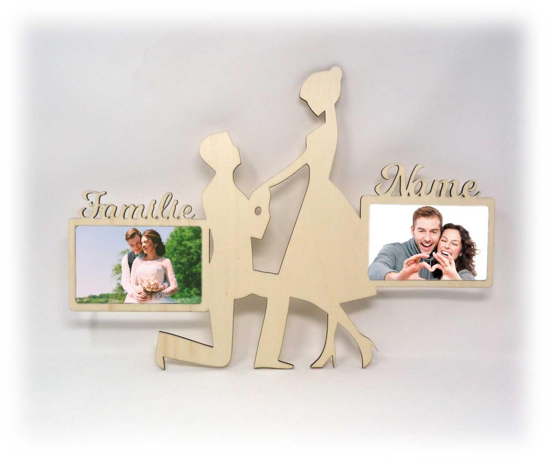Wand Bilderrahmen zur Hochzeit Verlobung Geschenke Holz Collage ...