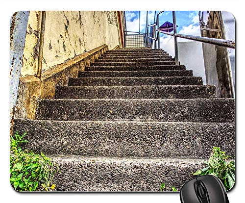 Mouse Pads - Stairs Rise Gradually Railing Staircase Building