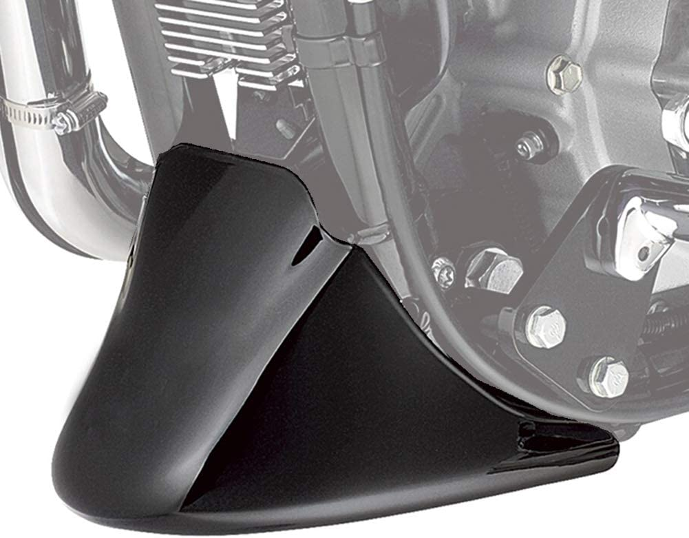 Jade Onlines Glossy Black Front Spoiler Chin Fairing Lower Cover for Harley Sportster Iron XL 883 XL1200