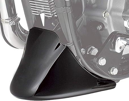 PBYMT Front Chin Spoiler Air Dam Fairing Windshield Mudguard Cover with Metal Bracket Compatible for Harley Davidson Dyna 2006-2017 Super Wide Glide Fat Bob Street Bob Matte Black