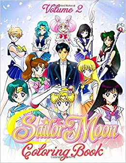 Sailor Moon Coloring Book: 50+ Coloring Pages for Kids Girls Ages ...