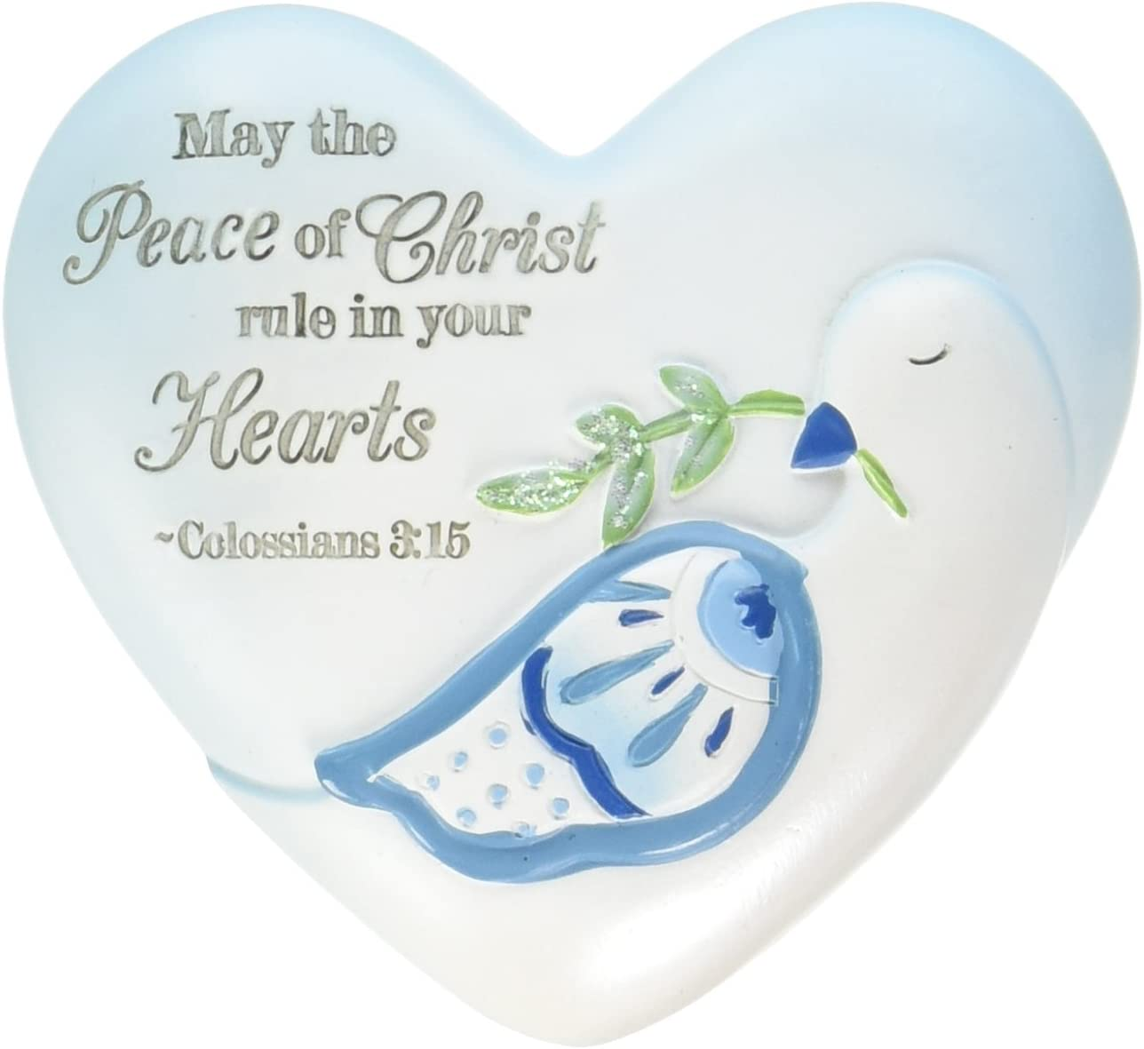 Pavilion Gift Company Inspirational Heart, Peace of Christ Sentiment, 2-1/2-Inch