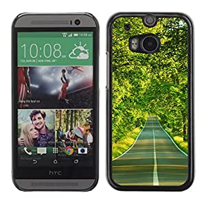 """For HTC One ( M8 ) , S-type Camino forestal"""" - Arte & diseño plástico duro Fundas Cover Cubre Hard Case Cover"""