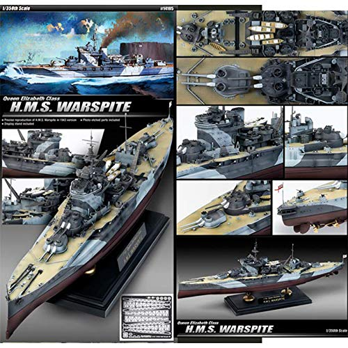 Academy Hobby Model Kits Scale Model : Battle Ships & Aircraft Carrier Kits (1/350 H.M.S. WARSPITE) from Academy Models
