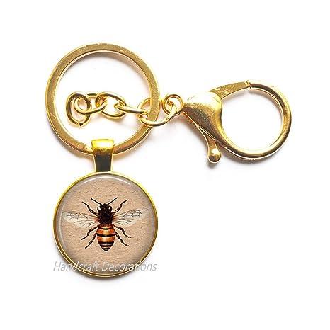 Amazon.com: Llavero de abeja de miel, llavero de abeja ...
