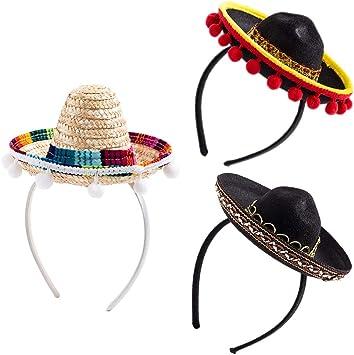 Amazon.com: Cinco de Mayo Sombrero Sombrero Diadema Fiesta ...