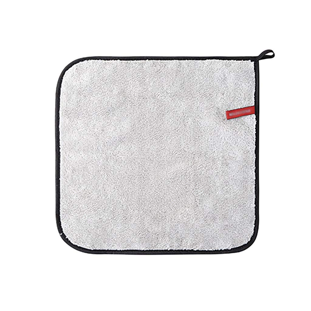 BAOGAI Thick Coral Velvet Car Wash Towel Car Supplies Special Towel is Not Easy to Lose Hair Absorbent Small Rag Large Cleaning Cloth (Color : Square Light Gray (3030cm))