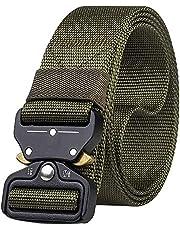 """JIER Cinturón Táctico 1.5"""" Ajustable Hombres Heavy Duty Cinturón Militar De Nylon Hebilla De Metal Cobra De Liberación Rápida para Molle Ejército Caza Deporte"""