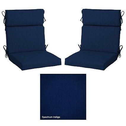Home Decorators Patio Cushions | Amazon Com 2 Pack 24 In H X 21 5 In W Home Decorators Sunbrella