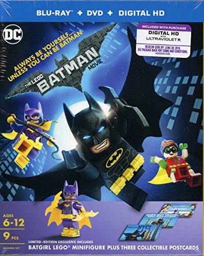 THE LEGO BATMAN MOVIE Blu-ray+DVD+Digital HD TARGET Exclusive Mini Figure and 3 Collectible Postcards
