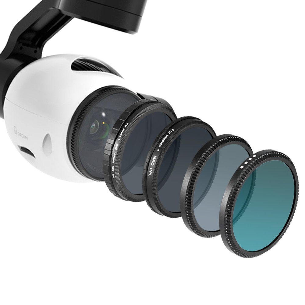 Neewer® for DJI Inspire 1,Multi-coated 4 Pieces Filter Kit for DJI Inspire 1, includes: UV Filter+Circular Polarizer Filter (CPL)+Neutral Density Filter (ND16)+ND Fader Adjustable Filter ND2-ND400