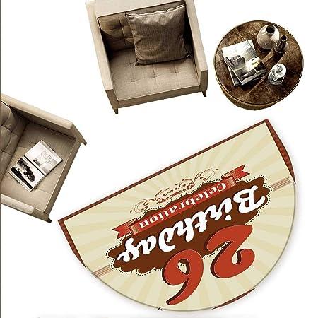 Alfombrillas Redondas para Puerta de 26 cumpleaños, diseño ...