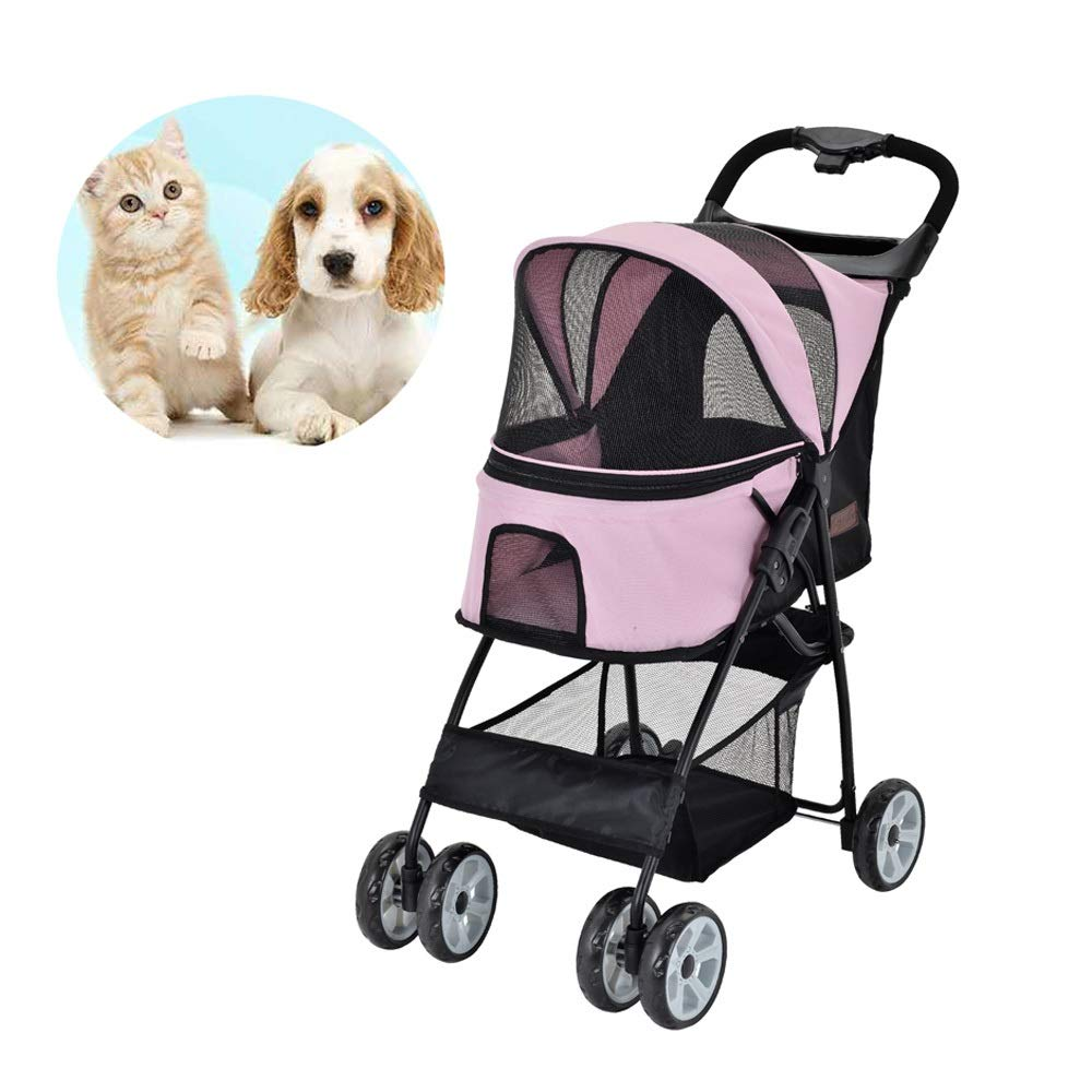 Light Weight Dog Stroller Medium, for Cat, Dog and More, Foldable Carrier Strolling Cart
