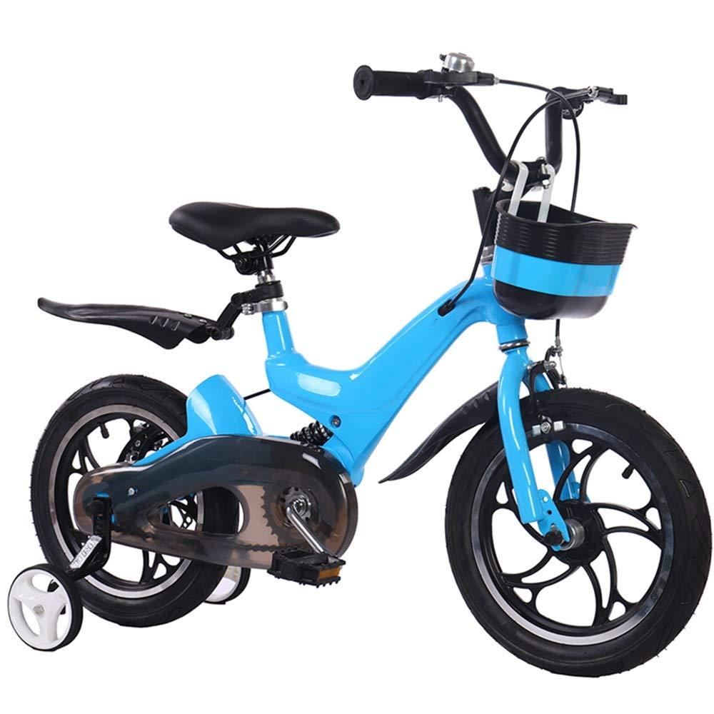 YUMEIGE 子ども用自転車 キッズバイク子供用自転車12/14/16インチ男の子と女の子のサイクリング、28歳の子供、青、白に最適 利用できるサイズ (色 : 青, サイズ さいず : 12in) 12in 青 B07QH1KLN6