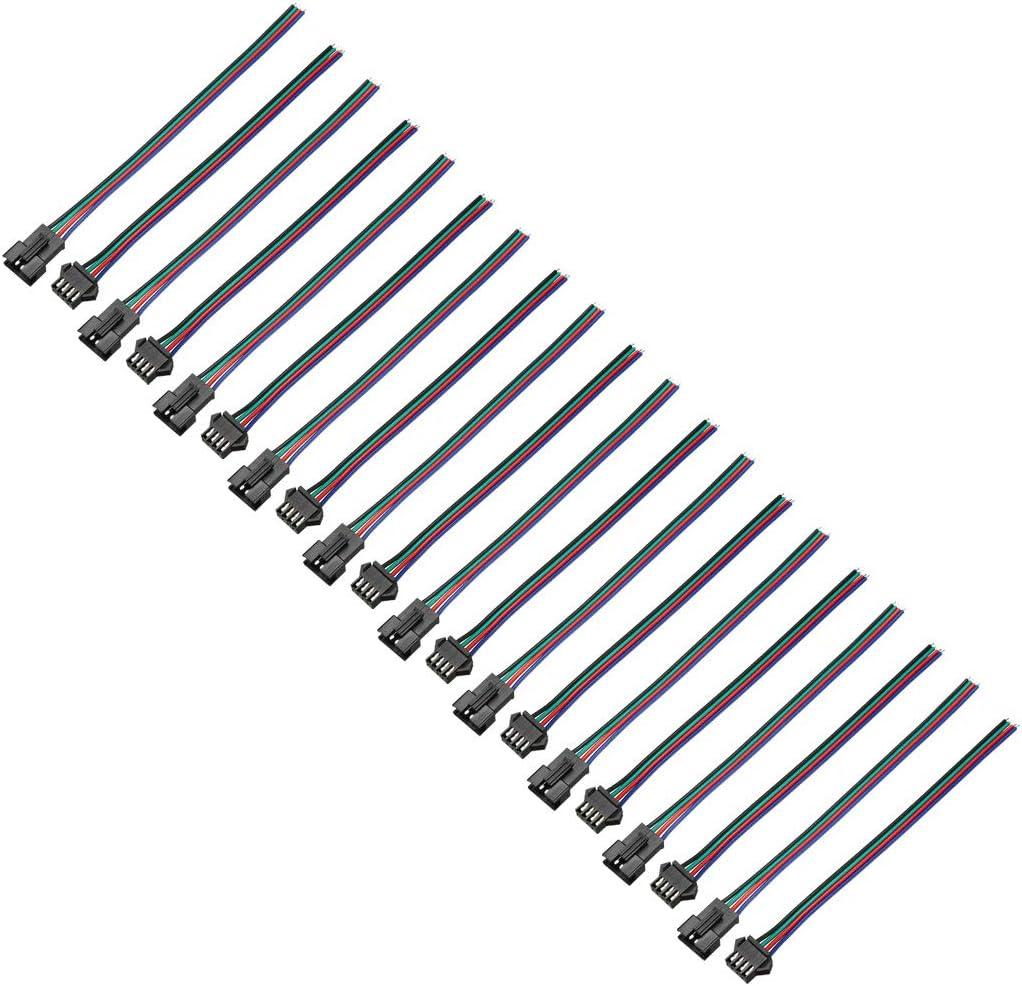 Sourcingmap - Cable de conexión RGB de 2 a 5 pines hembra JST SM para tira de luz LED 5050 3528 5630 10cs