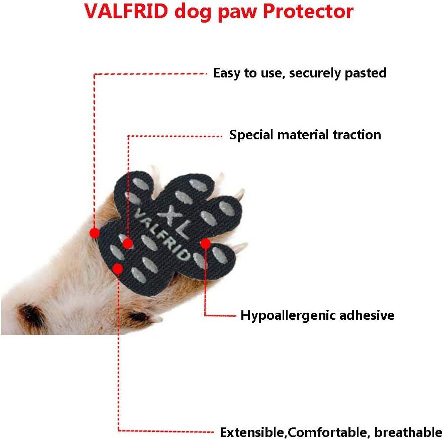 Valfrid Lot de 24 protège pattes de chien antidérapants, autocollants et jetables