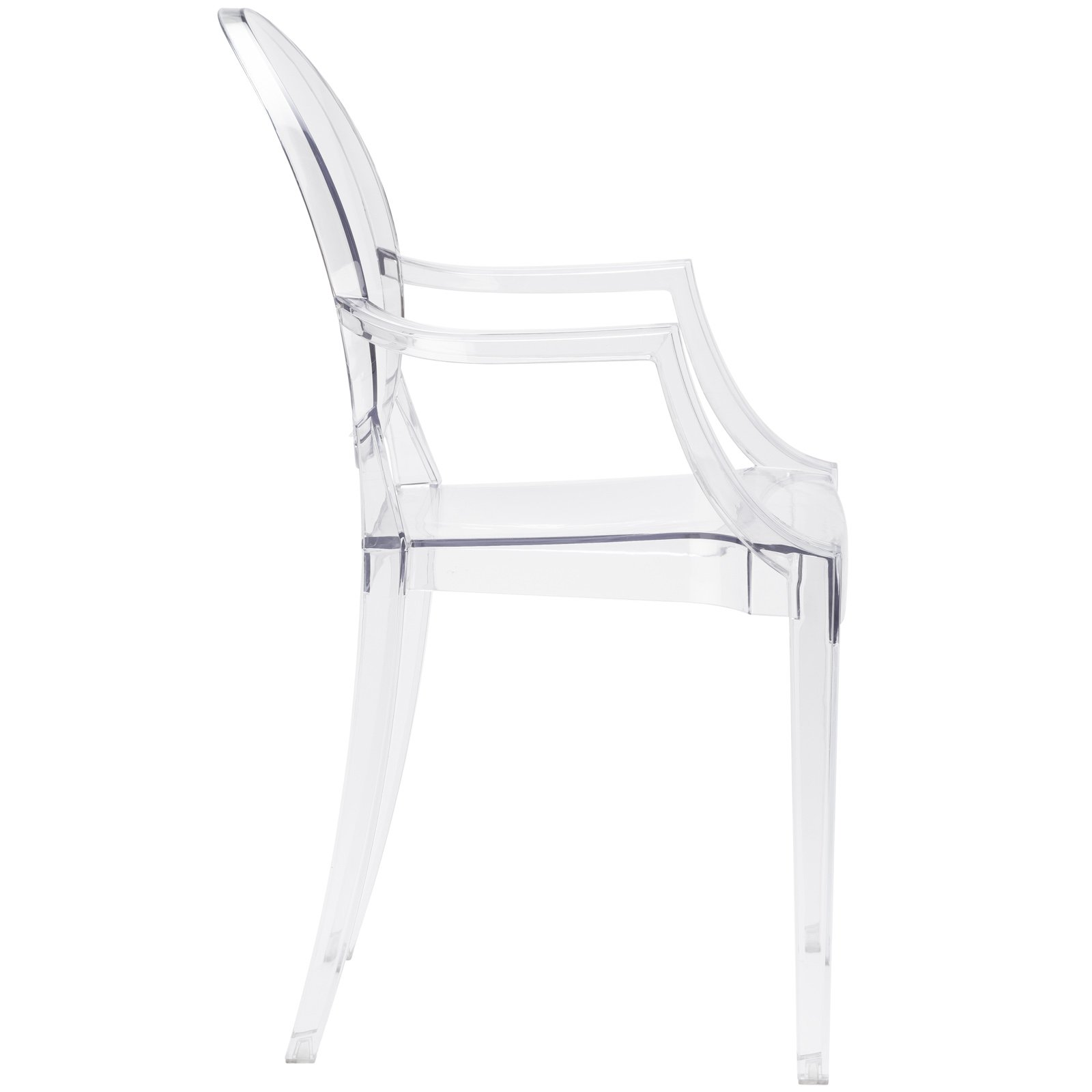 Poly and Bark Burton Arm Chair in Clear (Set of 4) by POLY & BARK (Image #4)