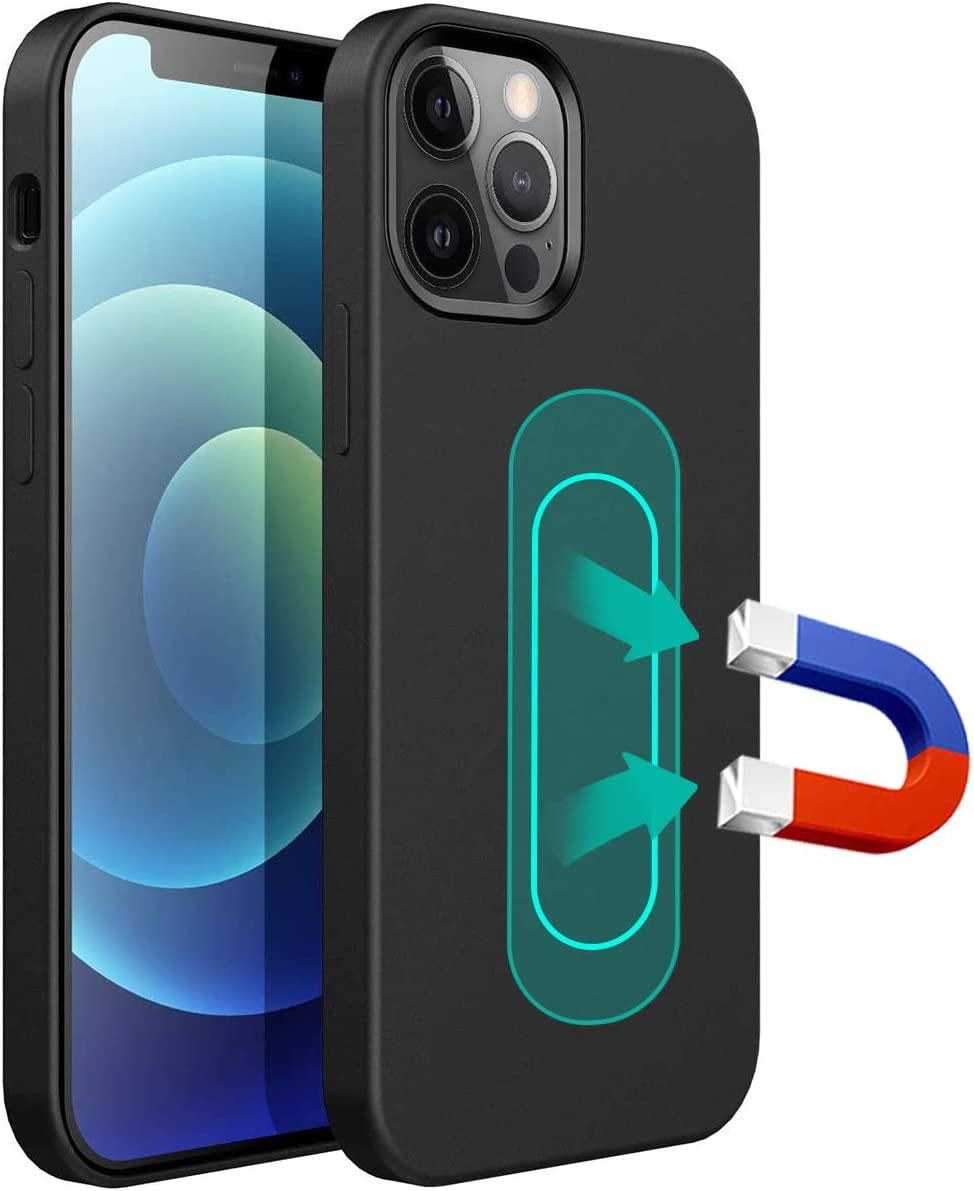 ESTPEAK Liquid Silicone Magnetic Case Compatible with iPhone XR,[Invisible Built-in Metal Plate] Support Magnetic Car Mount, 360 Protective Cover Compatible with iPhone XR 6.1''