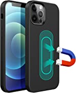 ESTPEAK Liquid Silicone Magnetic Case Compatible with iPhone X/Xs,[Invisible Built-in Metal