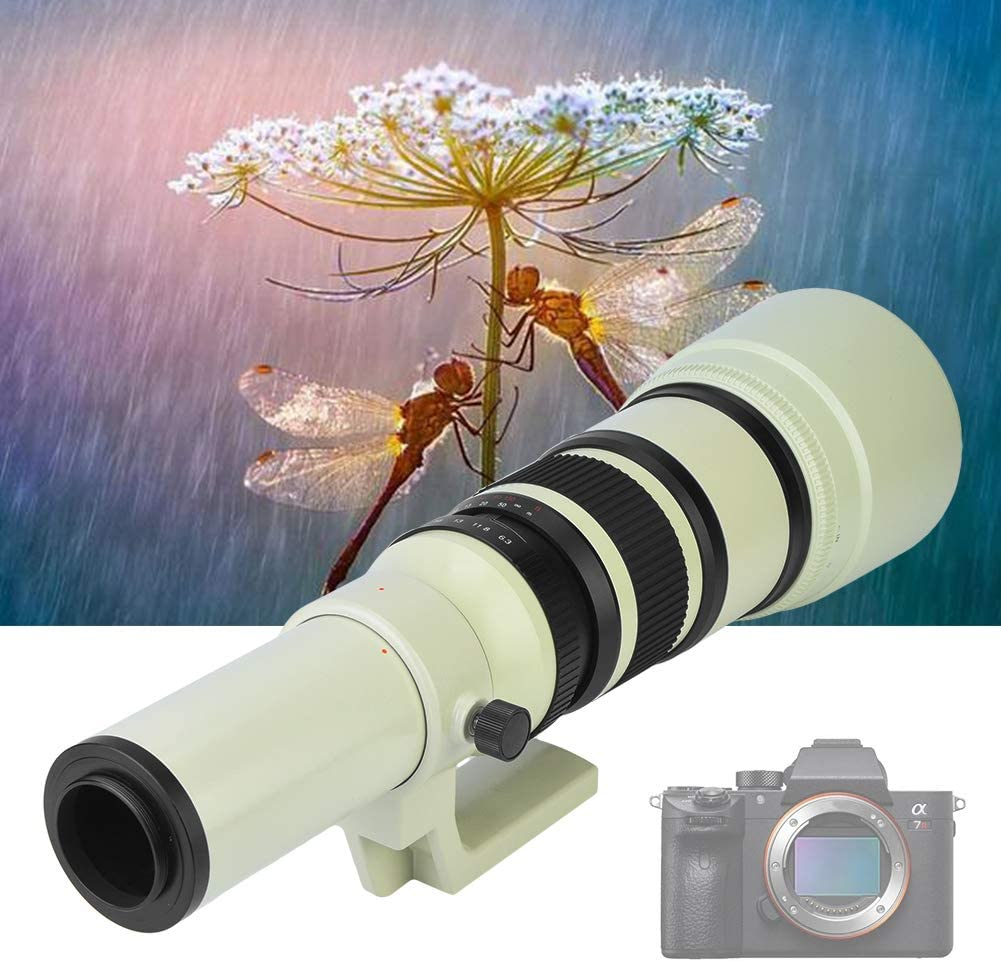 V BESTLIFE 500mm F//6.3 Fixed Manual Focus Telephoto Lens,Multi Coated Optical Glass Lens Eyepiece for DSLR//SLR Digital Camera with Adapter Ring for Canon,Nikon,Sony,Pentax T2-EOS Adapter for Canon
