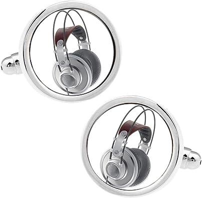 Música DJ Radio auriculares Gemelos para camisa para hombre de lbfeel: Amazon.es: Joyería