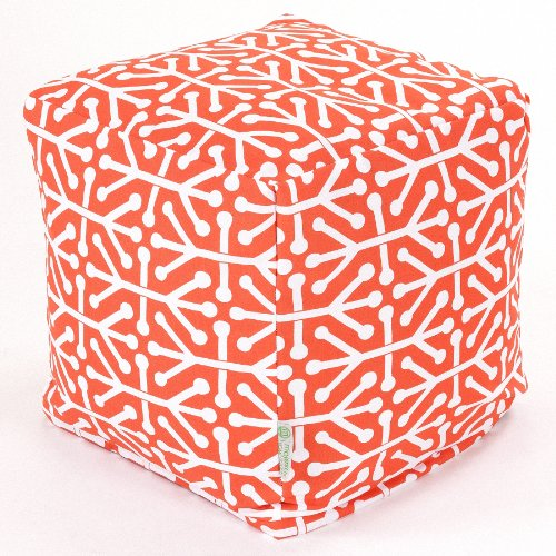 Majestic Home Goods Aruba Indoor / Outdoor Bean Bag Ottoman Pouf Cube, 17