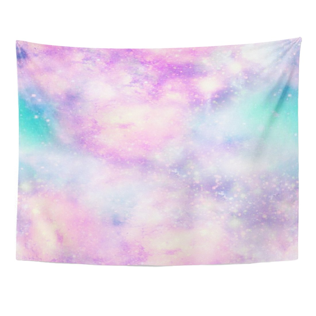 Emvency Tapestry Pink Pastel Unicorn Colours Galaxy Universe in Blue Mermaid Home Decor Wall Hanging for Living Room Bedroom Dorm 60x80 Inches