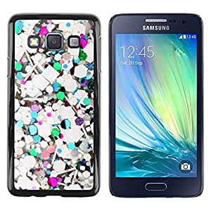 Impact Case Cover with Art Pattern Designs FOR Samsung Galaxy A3 Abstract Teal Glitter White Purple Betty shop