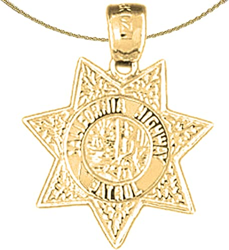 14K Rose Gold-plated 925 Silver California Pendant with 18 Necklace Jewels Obsession California Necklace