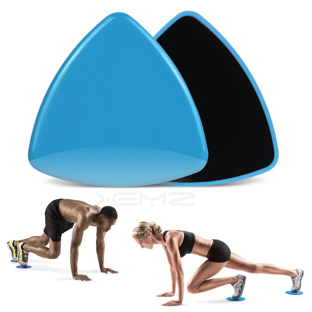xemz 2x Dual-seitige Gleitscheiben Core Schieberegler, Home Gym Training Trainer, Trainieren Sie Beine Arme Gleiter, Teppich Harte Böden Fitness Equipment, für Full Body Workout Crossfit Cardio Training