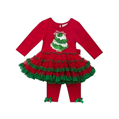 Rare Editions Baby's First Christmas Tree Tutu Set (3-6) months