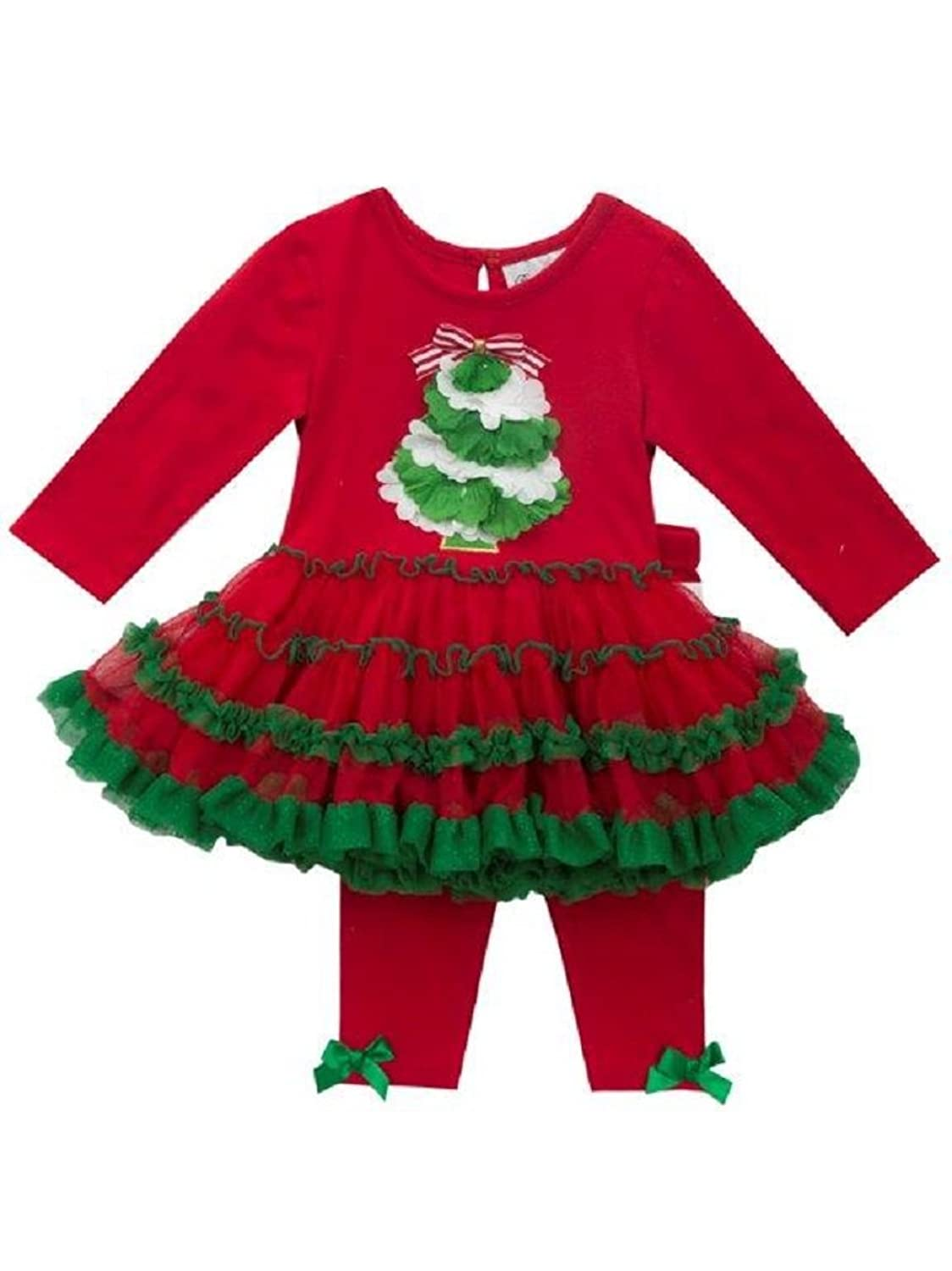 Rare Editions Christmas Toddler.Rare Editions Baby S First Christmas Tree Tutu Set 3 6