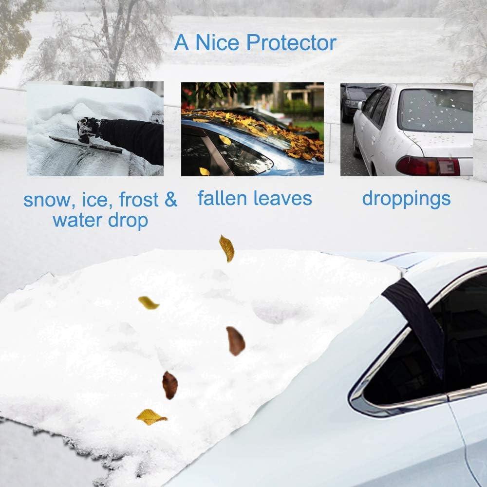 f/ür die meisten Fahrzeuge geeignet ultradick f/ür die R/ückseite der Scheibe Big Ant Windschutzscheiben-Abdeckung strapazierf/ähig Frost Schnee UV-Strahlen Winterschutz