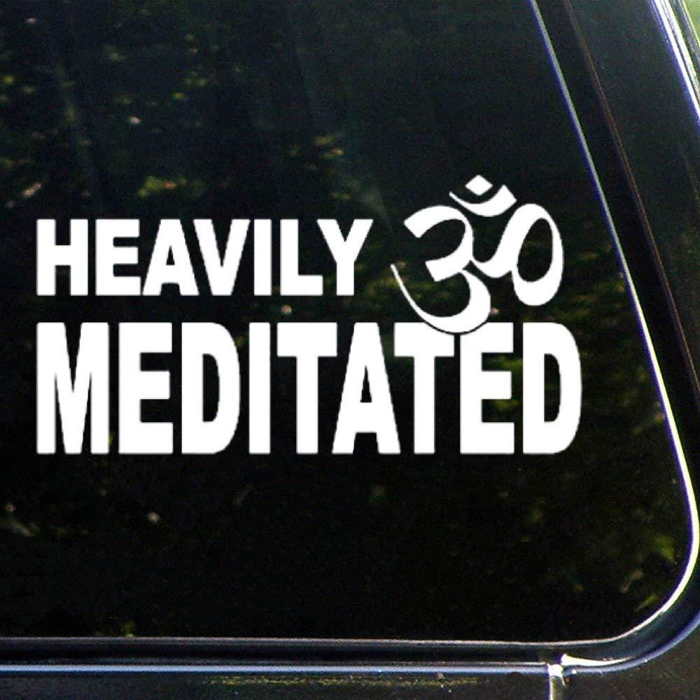 Heavily Meditated Mandala Meditation Yogaauto Sticker,Vinyl Car Decal,Decor for Window,Bumper,Laptop,Walls,Computer,Tumbler,Mug,Cup,Phone,Truck,Car Accessories luttezsmp1vx