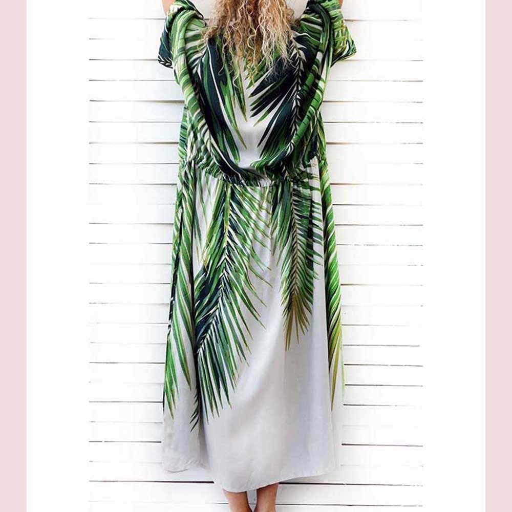Voolder Cotton Beach Cover up Print Bathing Suit Cover up Swimwear Women