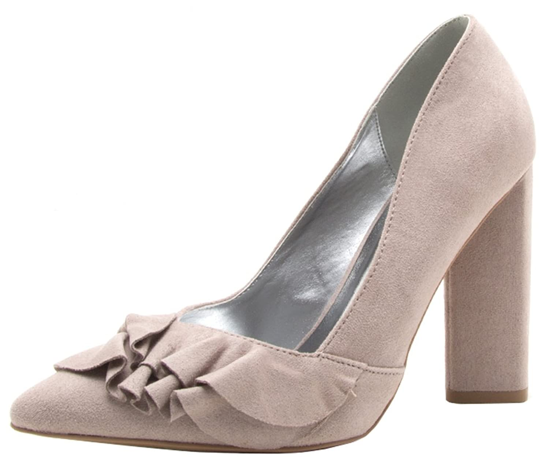 Chunky Heel Pointed Toe Chic Slip On Pumps - LIGHT KHAKI Best Wholesale Online Buy Cheap Low Cost Sale Pre Order Yh9azTRhy